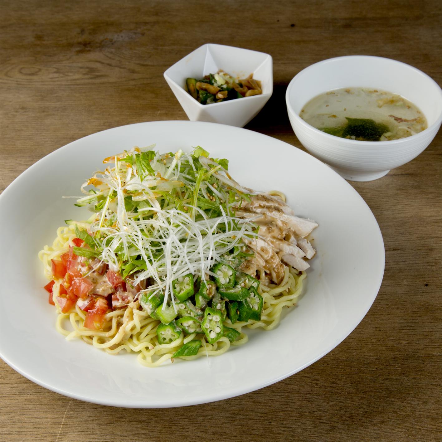 【月替:6月】胡麻黒酢の冷やし麺 1,100円(税込)